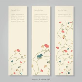 Banner floreali set gratuito