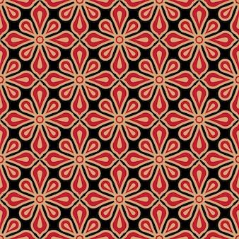 シームレスな花柄のバティックパターン