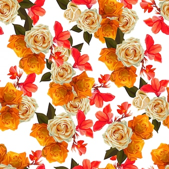 Floral beautiful  background   vector illustration