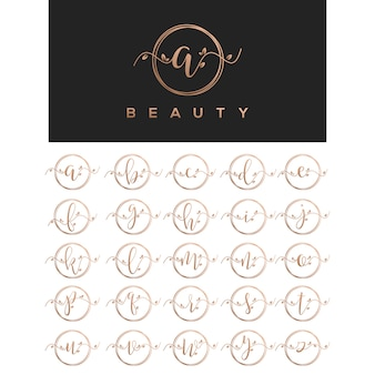 Floral beauty letter logo design