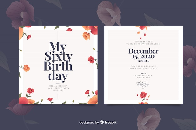 Birthday Invitation Vectors, Photos and PSD files | Free
