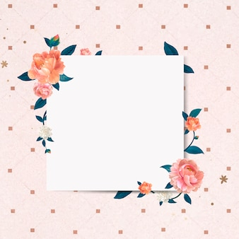 Floral blank sign