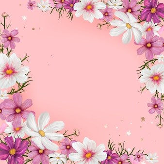 Floral blank space vector