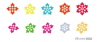 Floral blossoms vector shapes