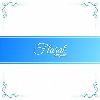 Цветочная синяя рамка дизайн баннера