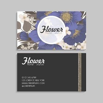 Floral border background - light blue flowers