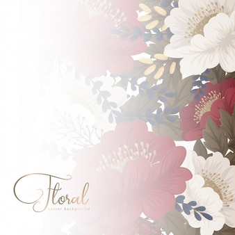 Floral border background  red flowers