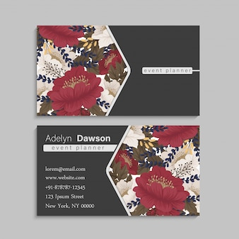 Floral border red flowers