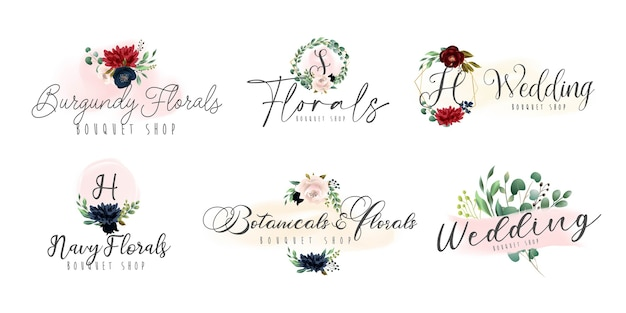 Floral botanical and feminine logo collection