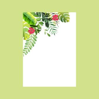 꽃 식물 프레임 카드
