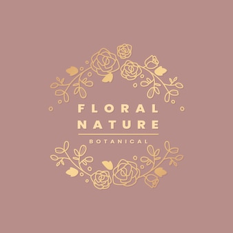 Floral botanical frame
