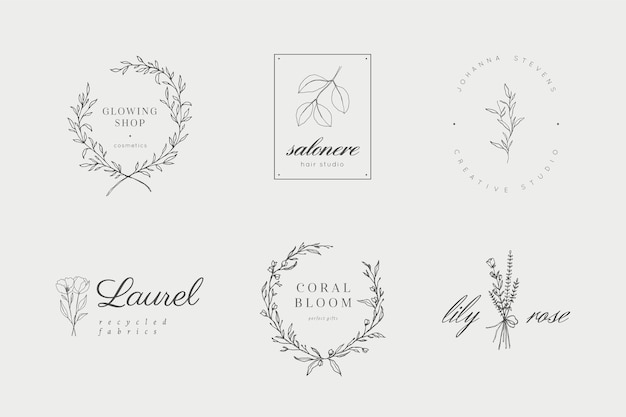 Floral and botanical logos collection