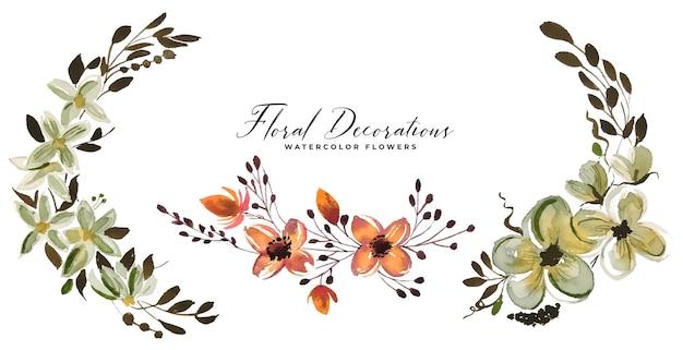 花の花束の花の装飾セット