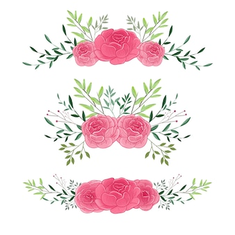 Floral bouquet flower for wedding invitation ornament design