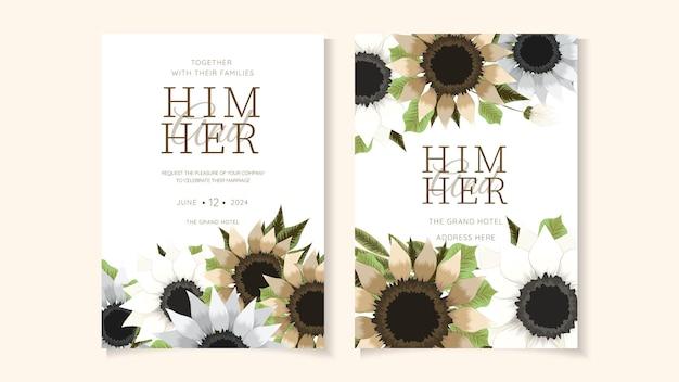 花の花束フレームヴィンテージ花グリーティングカード、結婚式、社交