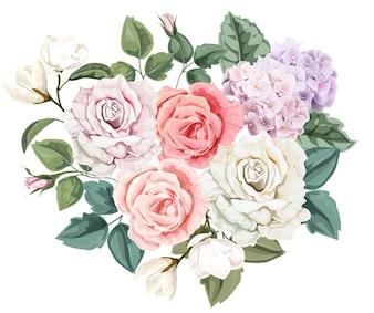 Floral bouquet rose