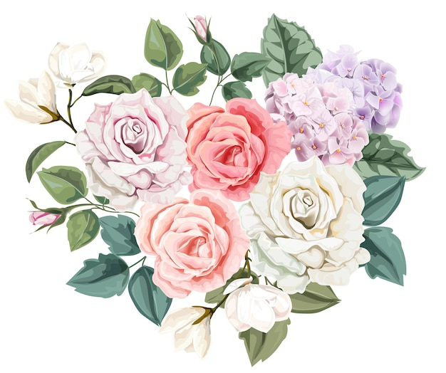 Floral bouquet rose
