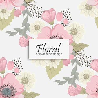 꽃과 잎과 꽃 꽃다발 벡터 패턴