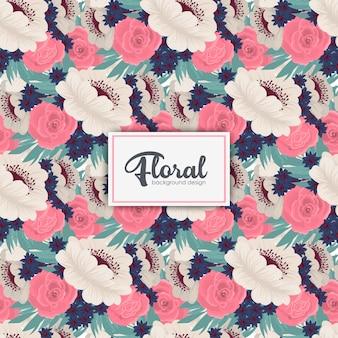 花と花の花束ベクトルパターン