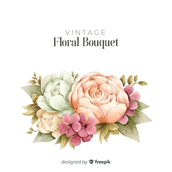 Floral bouquet in vintage style