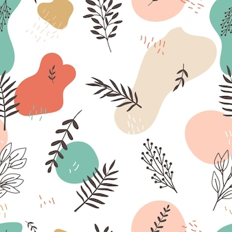 Floral branches pattern