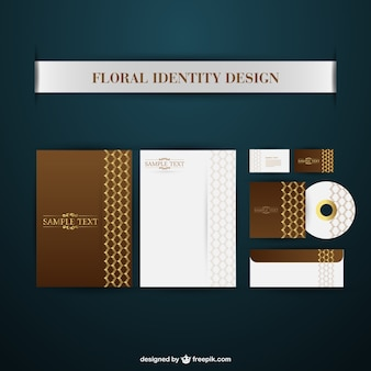 Floral brand identity collection Free Vector