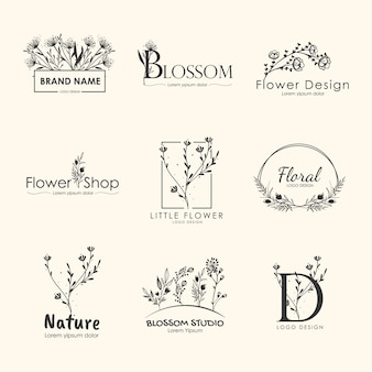 Floral brands and logo designs  collection.