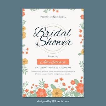 Floral bridal shower party invitation