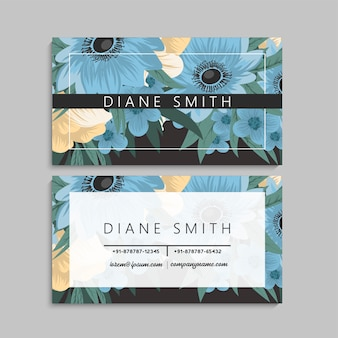 Floral business card design