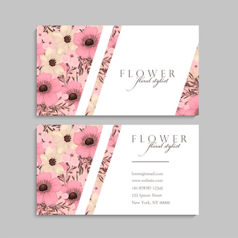 Floral business card design.