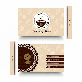 Floral business card for coffee shop