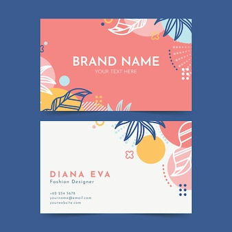 Floral business card pack