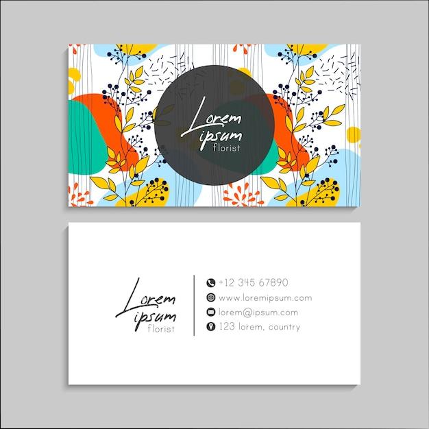 Floral business card set.