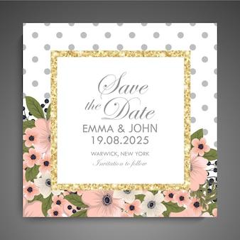 Floral business card template design