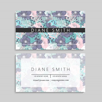 Floral business card template