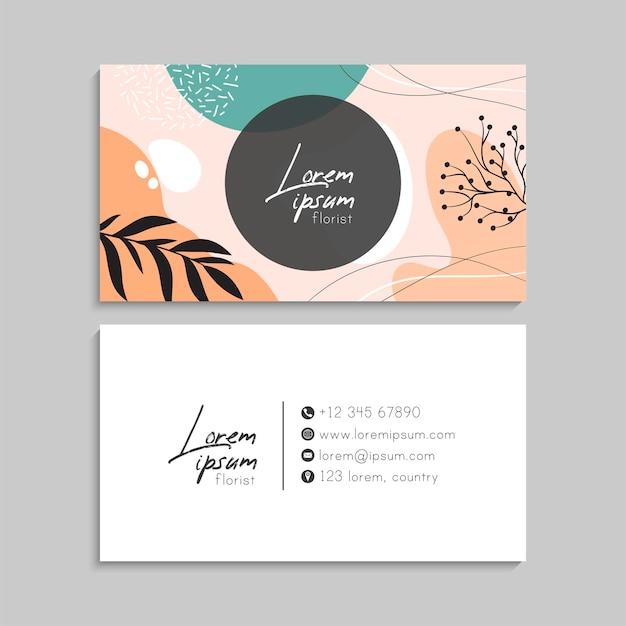 Цветочная визитка с рамкой