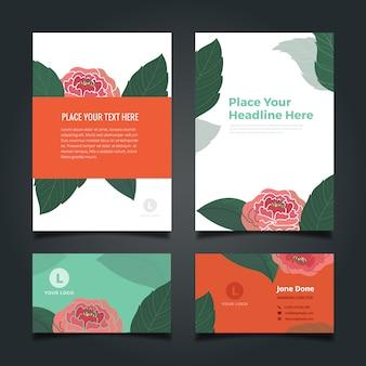 꽃 무늬 비즈니스 문구 컬렉션