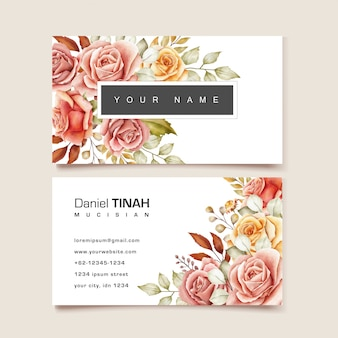 Floral businesscard