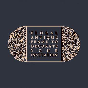 Floral  calligraphic frame