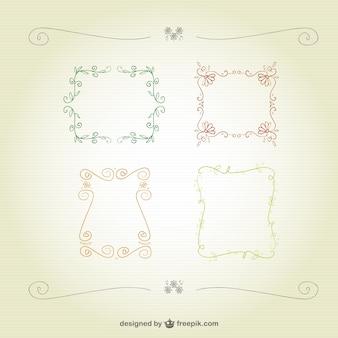 Floral calligraphic frames