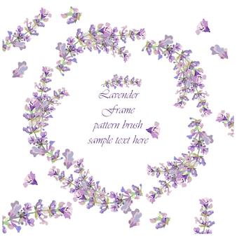 花のカードのテンプレート