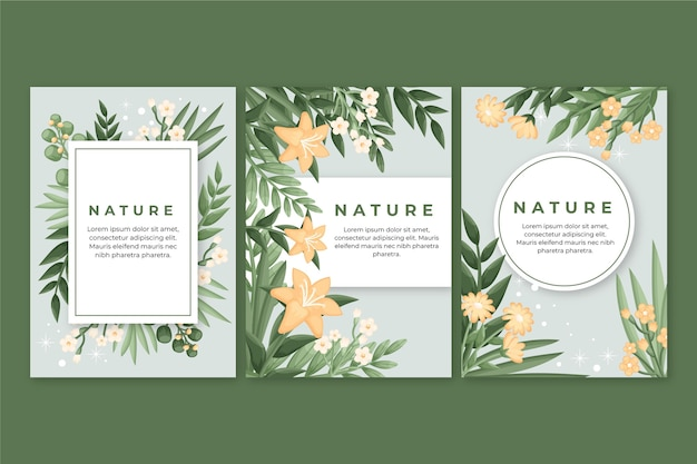 Floral cards collection