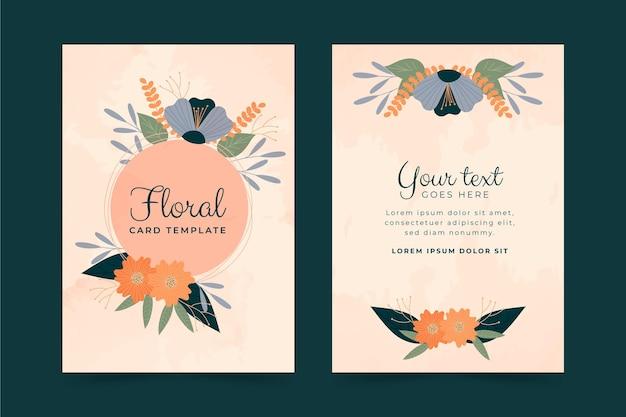 Collezione di carte floreali