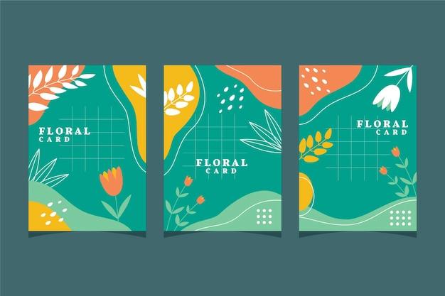 꽃 카드 컬렉션