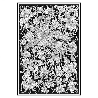 Floral carved