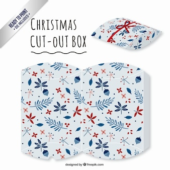 Floral christmas cut out box