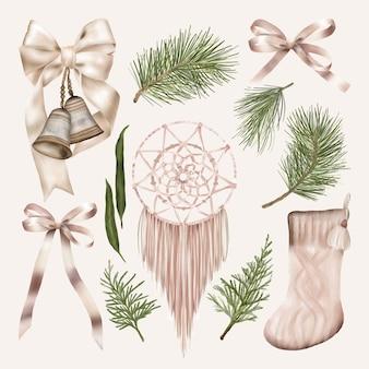花のクリスマスデコレーションセット