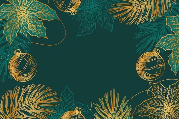 花のクリスマスの装飾的な背景