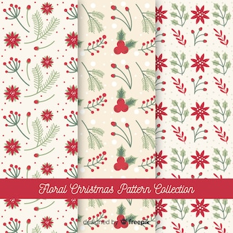 꽃 크리스마스 패턴 컬렉션