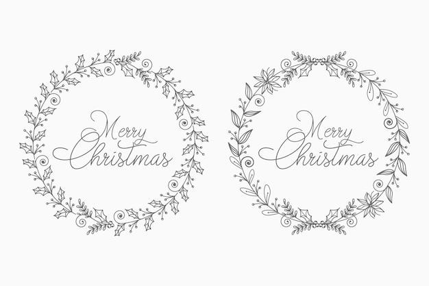 Цветочный рождественский венок для абстрактной и декоративной концепции
